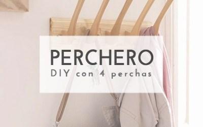 DIY PERCHERO CON PERCHAS VIEJAS