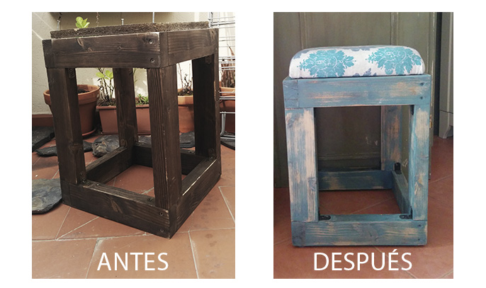 DIY restaurar taburete