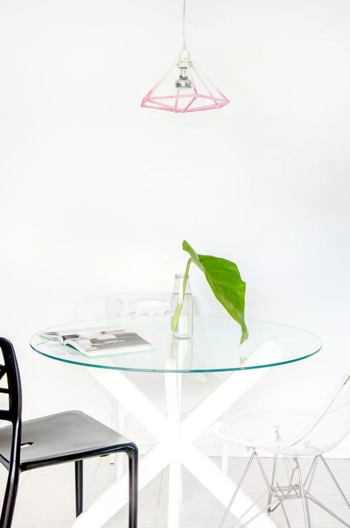 DIY lámpara geométrica