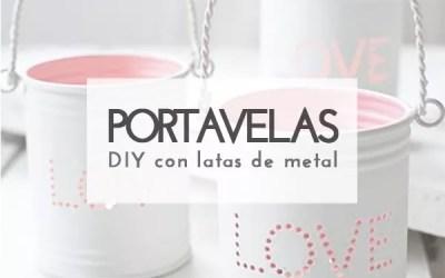 DIY PORTAVELAS CON LATAS