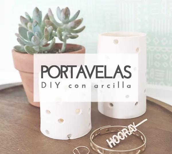 DIY PORTAVELAS DE ARCILLA