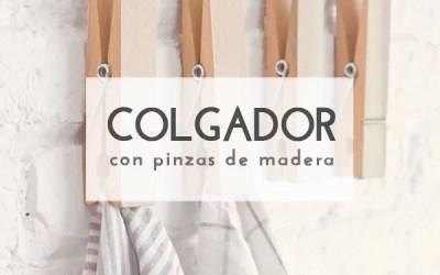DIY COLGADORES CON PINZAS