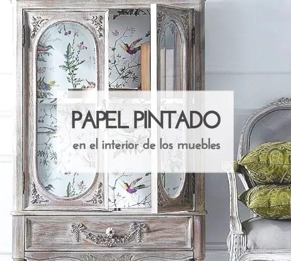 IDEAS: INTERIOR DE MUEBLES CON PAPEL PINTADO