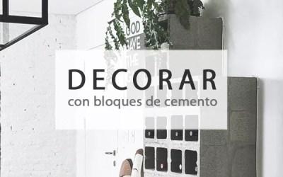DECORAR CON BLOQUES DE CEMENTO