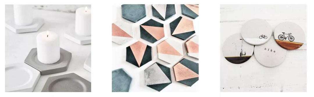 Posavasos DIY de cemento