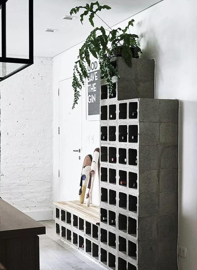 DIY botellero de cemento