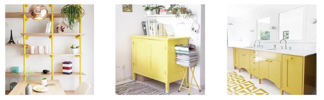 Pintar muebles de amarillo