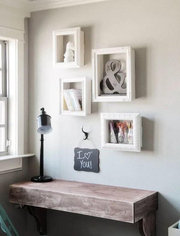 DIY estanterías con marcos