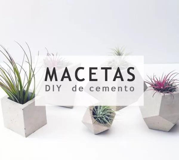 DIY MACETAS DE CEMENTO
