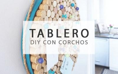 TABLERO CON CORCHOS DE VINO