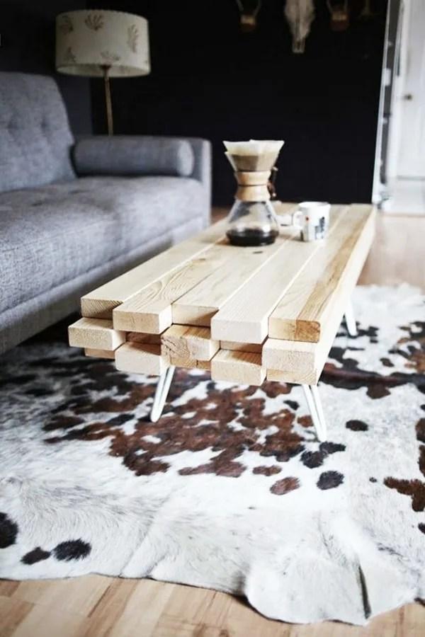 mesa con listones diy