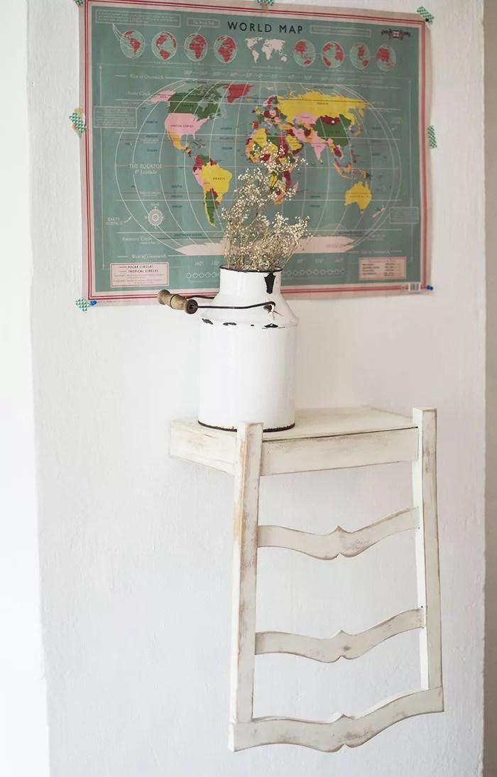 diy estanteria con silla