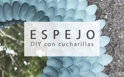 ESPEJO DIY CON CUCHARAS DE PLÁSTICO