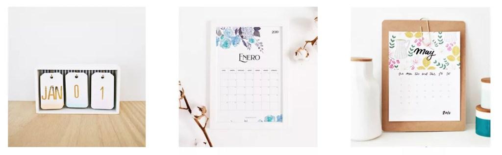 ideas para un calendario diy