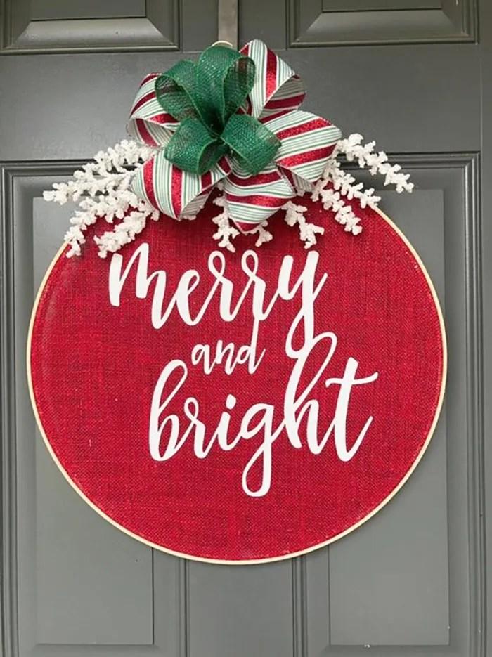 bastidor navideño con tela