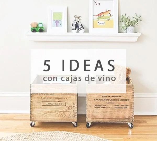 5 ideas para reciclar cajas de vino
