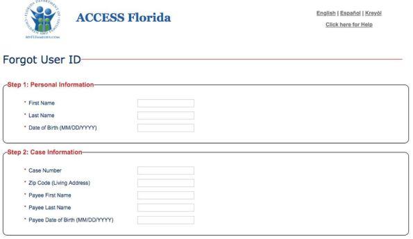 My Access Florida Account Login