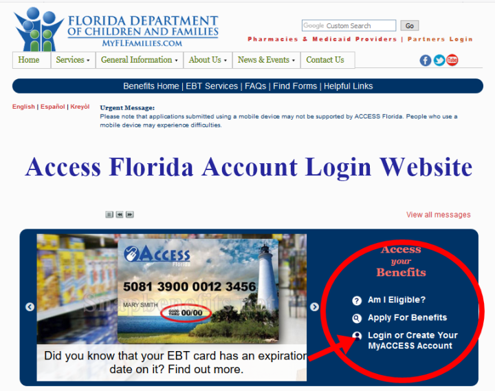 Access Florida Account Login