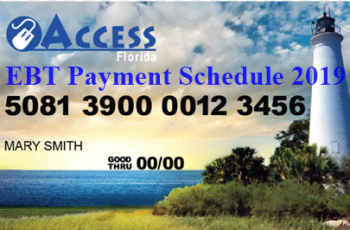 Florida EBT Payment Schedule 2019
