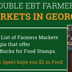Double EBT Farmers Markets in Georgia