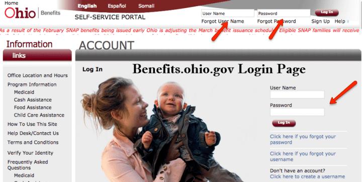 Benefits.ohio.gov Login