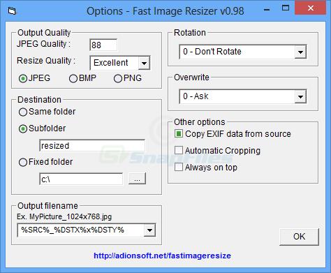 Fast Image Resizer - simple image resizer