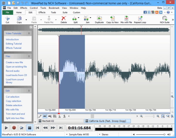 WavePad - audio editor