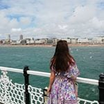 looking back to brighton from the pier