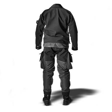 חליפה יבשה E.Lite Plus - מבט מאחור