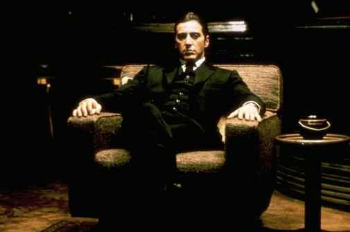 Al Pacino nel ruolo di Michael Corleone ne Il padrino