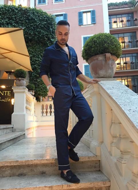 Edoardo Alaimo in nightwear