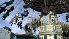 Amusement Park, Art, Blue Sky, Building, Child, Cloud, Countryside, Hammock, Hanging-stage, House, House Building, Nature, Palm Tree, Sun Light, Swinging, Tree