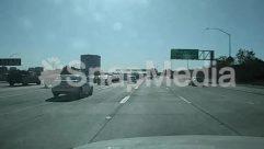 Asphalt, Automobile, Building, Car, City, Freeway, Highway, Intersection, License Plate, Machine, Metropolis, Nature, Overpass, Road, Sedan, Street, Tarmac, Town, Transportation, Truck, Urban, Vehicle