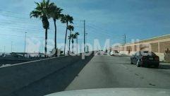 Asphalt, Automobile, Car, Freeway, Highway, Overpass, Palm Tree, Transportation, Tree, Urban, Vehicle