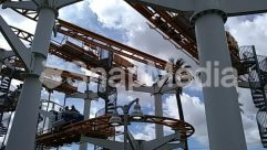 Amusement Park, Building, Coaster, Construction Crane, Factory, Human, Person, Roller Coaster, Theme Park