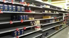 Supermarket,Shop,Grocery Store,empty shelves