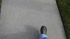 Apparel, Asphalt, Clothing, Concrete, Denim, Dirt Road, Floor, Flooring, Footwear, Grass, Gravel, Jeans, Limestone, Pants, Path, Pavement, Plant, Road, Rug, Running Shoe, Shoe, Sidewalk, Slate, Sneaker, Tar, Tarmac, Texture, Tire, Walkway, Wall, Word