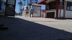 Human, Person, Path, Road, Town, Street, Building, City, Clothing, Shorts, Sidewalk, Pavement, Social distancing, newport beach ca, balboa fun zone