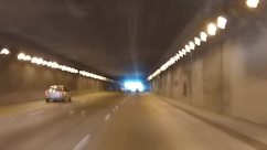 Road, Automobile, Transportation, Vehicle, Car, Freeway, Tunnel, Highway, Tarmac, Asphalt, Overpass, Building, Hangar, Light, Urban