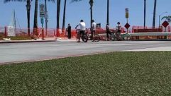 Person, Human, Road, Path, City, Urban, Town, Building, Street, Tarmac, Asphalt, Transportation, Intersection, Vehicle, Pedestrian