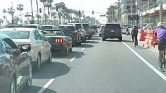 Human, Person, Vehicle, Transportation, Automobile, Car, Bicycle, Bike, Traffic Light, Light, Road, Traffic Jam, Parking, Parking Lot, Machine