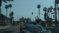 Human, Person, Traffic Light, Light, Car, Vehicle, Transportation, Automobile, Bike, Bicycle, Road, Urban, Building, huntington beach protest, Social distancing