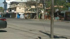Urban, Building, Road, Town, City, Street, Person, Transportation, Vehicle, Slum, Bus, Bicycle, Bike, Car, Automobile