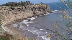 Water, Shoreline, Ocean, Sea, Outdoors, Nature, Coast, Beach, Land, Promontory, Cliff, Cove, Cave, Sea Waves, Rock