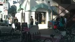 Person, Vehicle, Bicycle, Bike, Transportation, Shop, Machine, Wheel, Car, Automobile, Workshop, Spoke, Furniture, Chair, Apparel