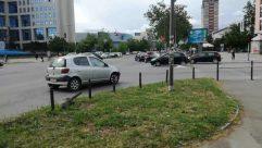 Automobile, Vehicle, Car, Transportation, Person, Road, Wheel, Machine, Intersection, Path, Parking, Parking Lot, Urban, Building, Town