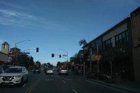 Light, Traffic Light, Automobile, Car, Vehicle, Transportation, Road, Person, Building, City, Urban, Town, Street, Metropolis, License Plate
