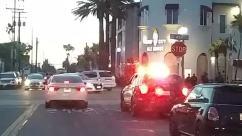 george floyd, Protest, Automobile, Vehicle, Car, Bike, Bicycle, Light, Police Car, Road, Traffic Jam, Pedestrian, Building, huntington beach