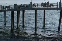 Water, Waterfront, Pier, Dock, Port, Bridge, Building, Boardwalk, Ocean, Sea, Harbor, People
