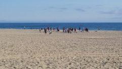 Sea, Water, Ocean, Shoreline, Sand, Soil, Coast, Beach, Bay, Shorts, Landscape, Vacation, Skin, Land, People